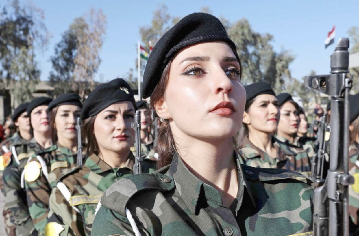 Peshmerga women military personnel