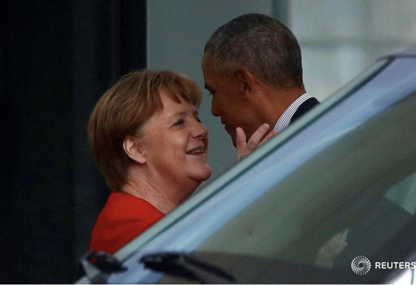 Obama & Merkel Doing Their Best Joe Biden
