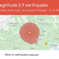 Earthquake in India