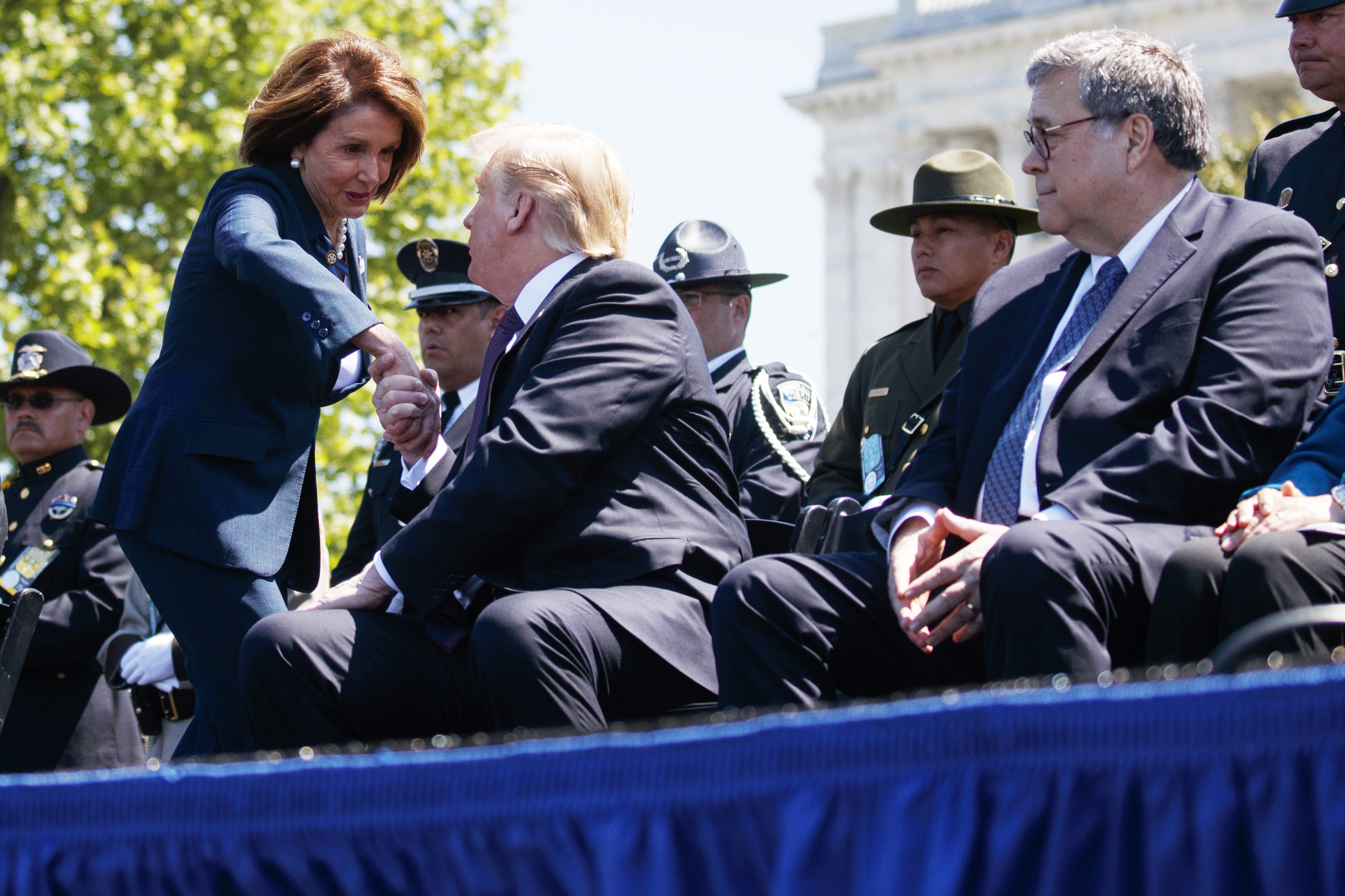 Pelosi, Trump, Barr