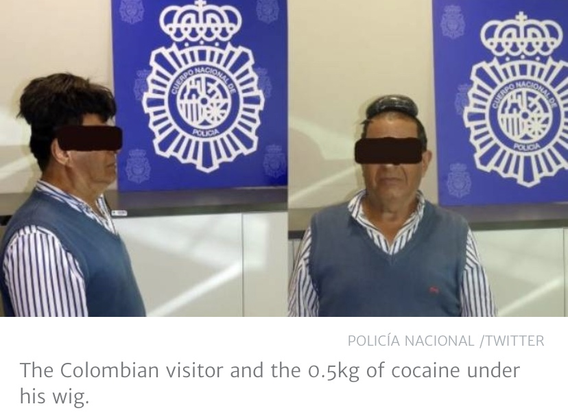 Spanish customs officers stop man with drugs under his toupee