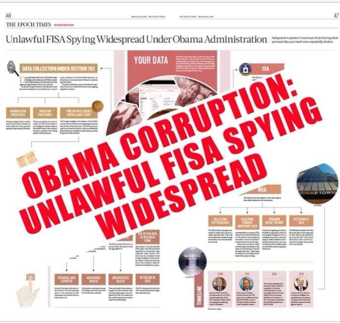 Obama Unlawful FISA Spying Infographic