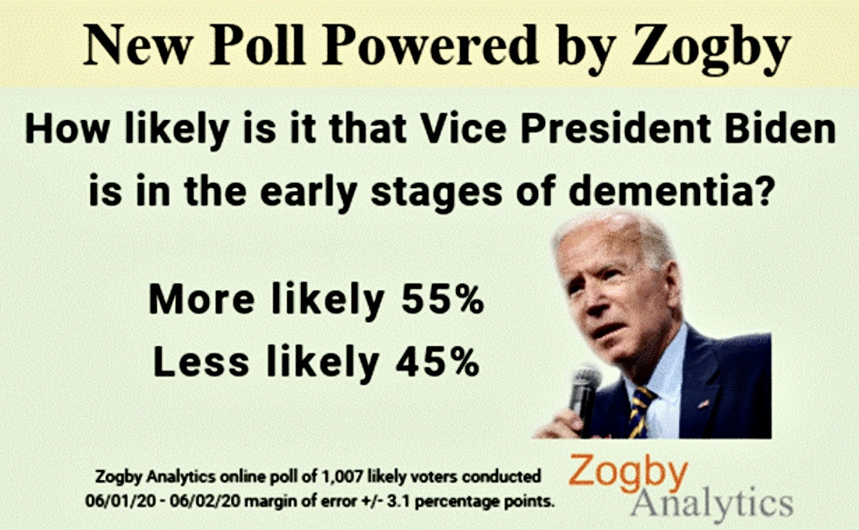 Zogby Poll Devastating for Biden