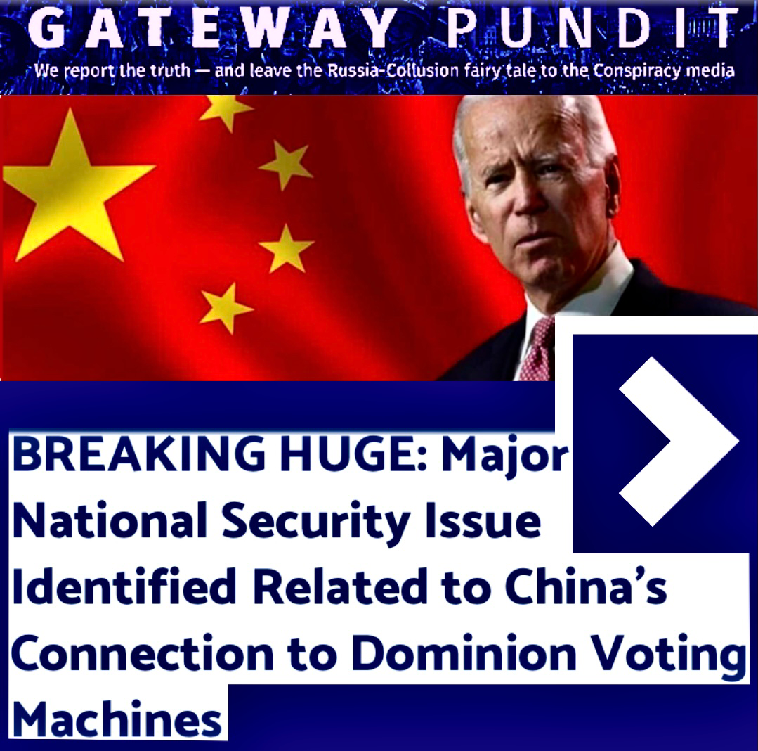 Chinese Parts on Dominion Voting Machines