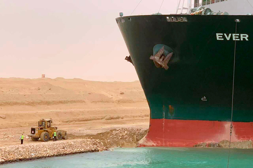 Cargo ship drew a penis and butt before getting stuck in Suez Canal