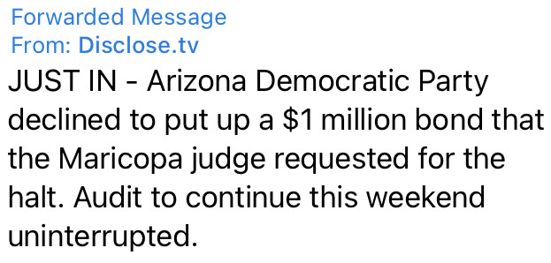 Dems Fail to Halt Arizona Election Audit