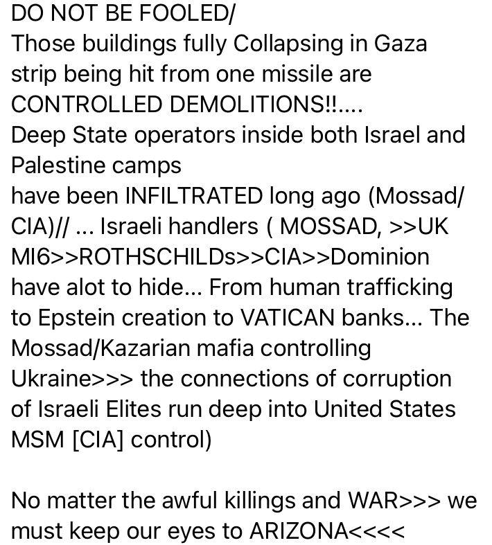 Chaos in Israel
